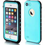 iPhone 5S Waterproof Case, eFond iPhone SE Waterproof Case IP68 Certified Shockproof Durable Slim Fit Full-Sealed Hard Cover with Touch ID Snow Dust Dirty Proof Case for iPhone 5 5S SE [Teal Blue]