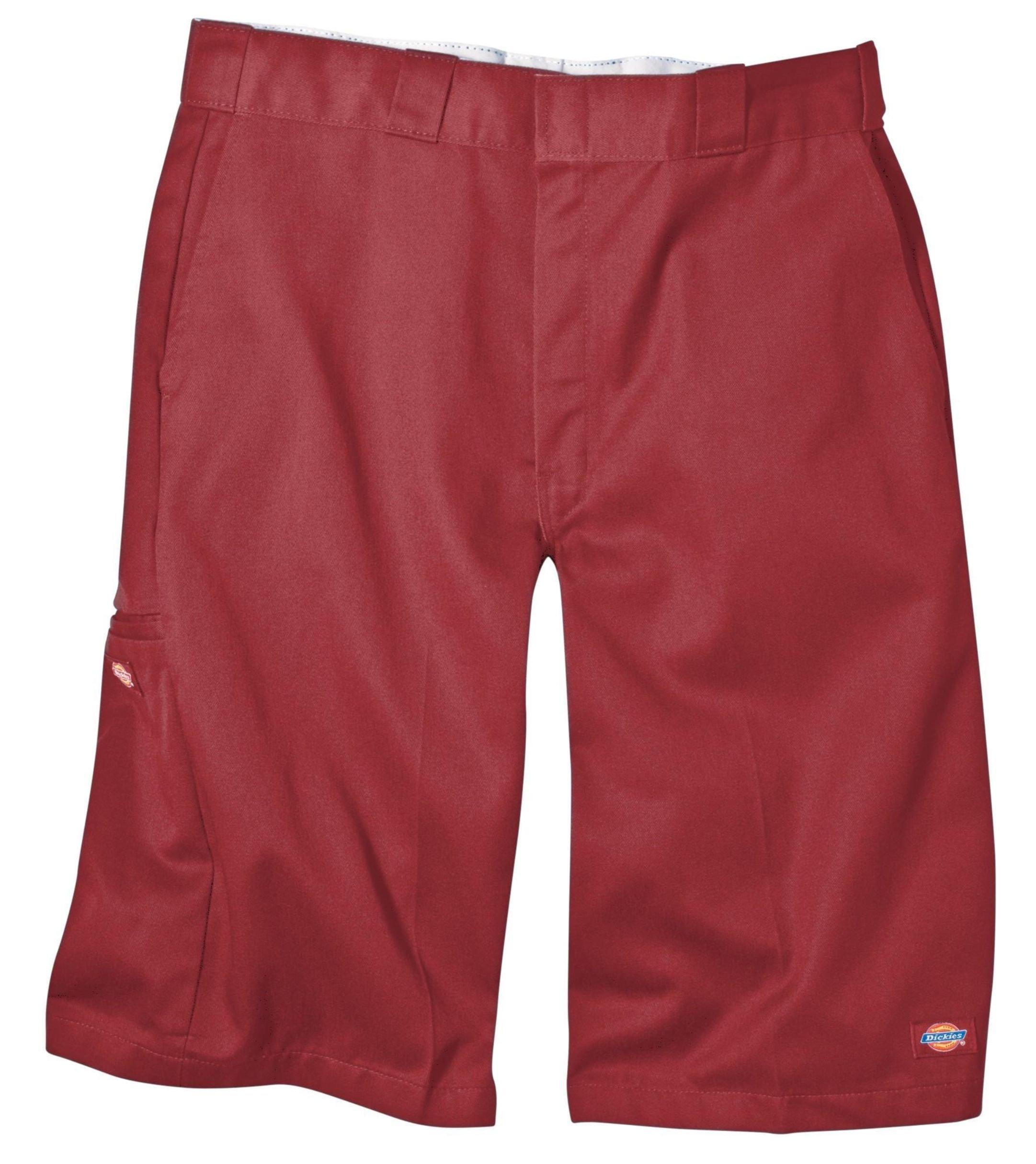 Dickies Men's 13 Inch Loose Fit Multi-Pocket Work Short, English Red 31