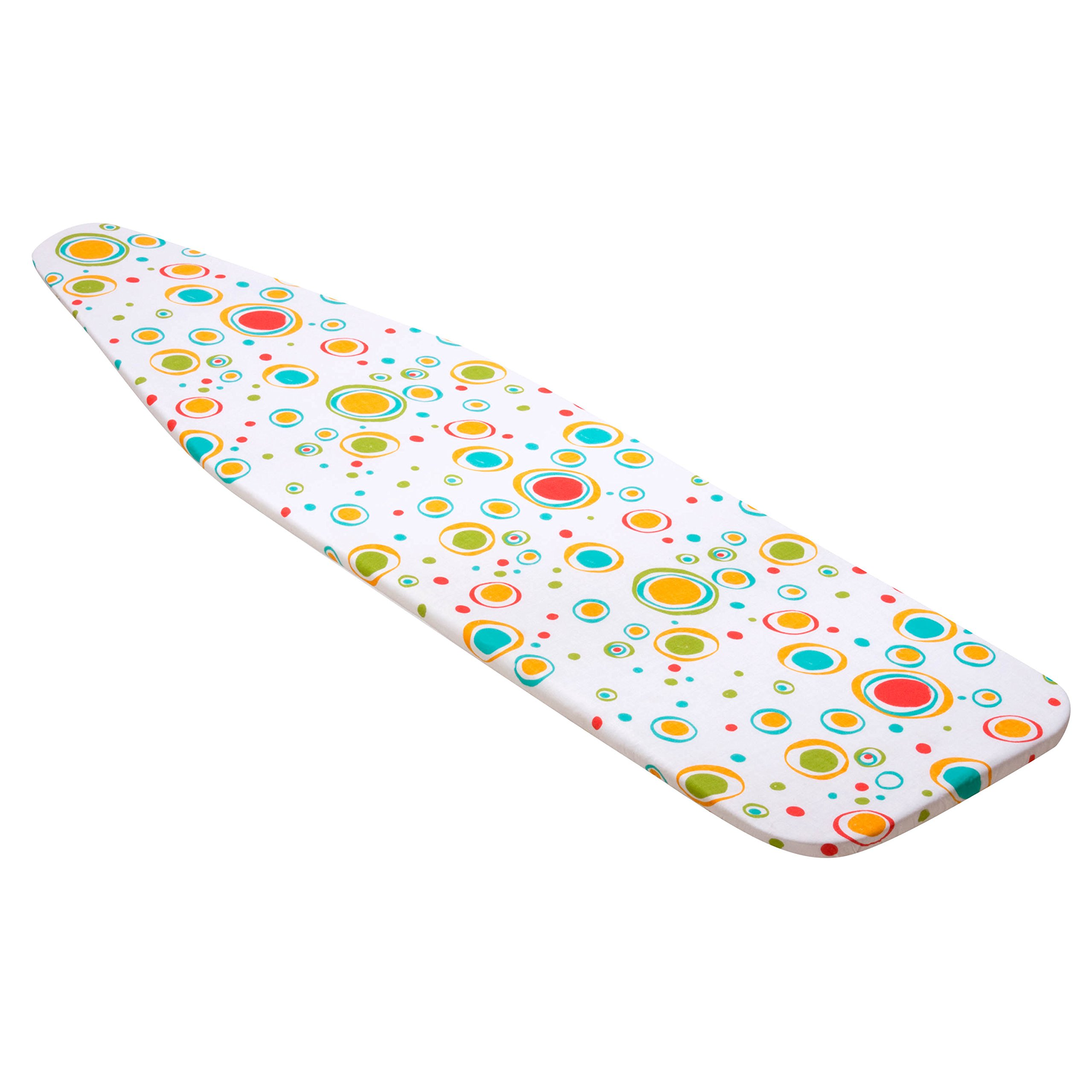 Honey-Can-Do IBC-03040 Superior Ironing Board Cover, Colorful Dots