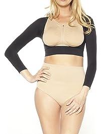 Ahh By Rhonda Shear Womens Plus Size Seamless Arm Shaper Shapewear Top