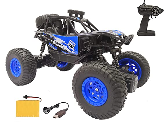 Popsugar 1:20 Off Roader Rock Climbing Rechargeable Truck with Remote Control Toy for Kids | Drive on Sandy, Rocky, Grassland