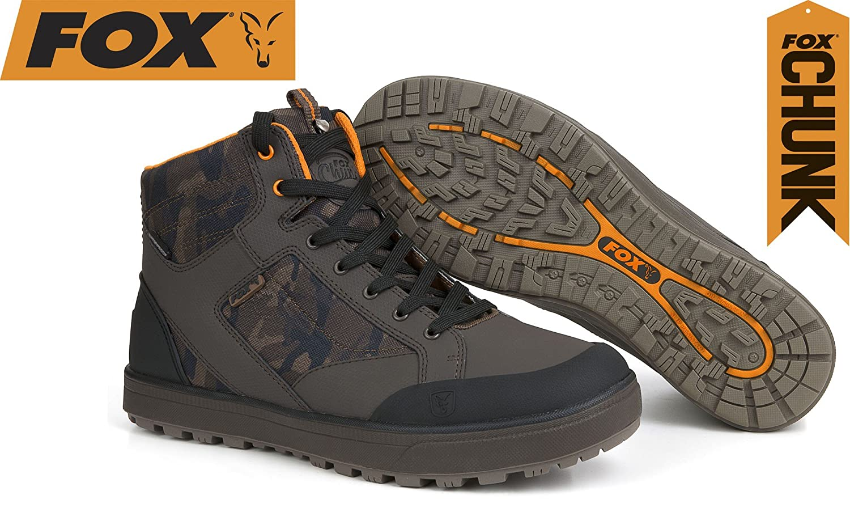 Fox Chunk Camo Mid Stiefel Stiefel Angelstiefel, Schuhe Angelschuhe, Schuhe Zum Angeln, Anglerschuhe