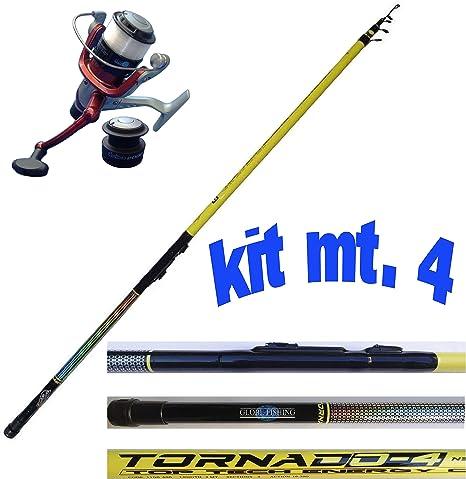 Kit Pesca Trota Lago Canna Mulinello Filo Da Pesca