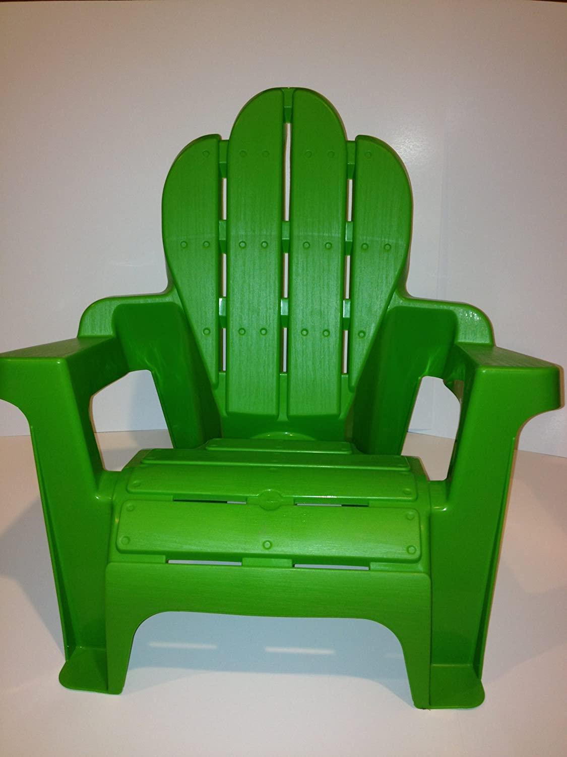 Amazon.com : Kidu0027s Plastic Adirondack Chair, Green, Scallop Top, Light  Weight : Garden U0026 Outdoor