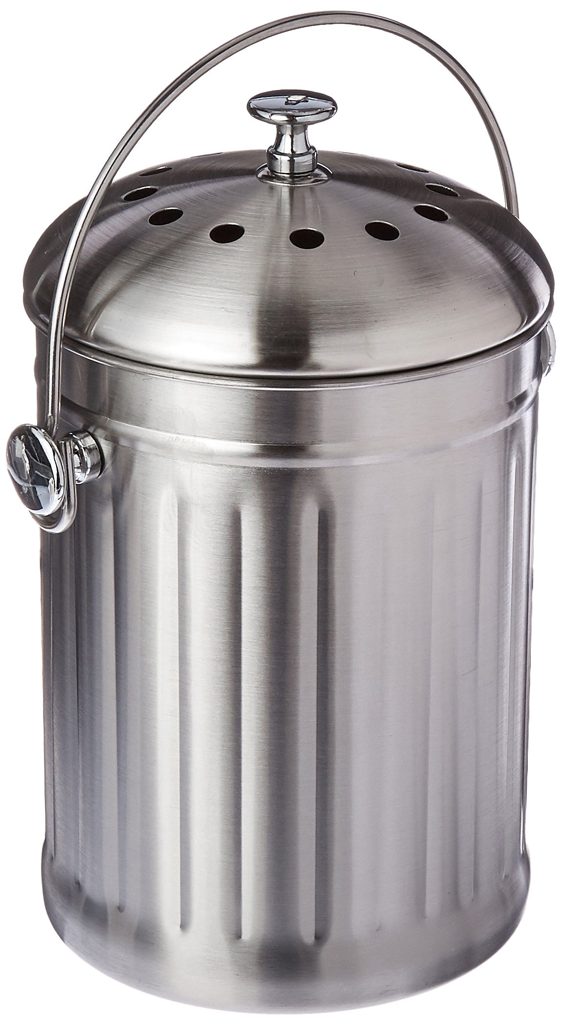 Good Ideas Kitchen Accents Composter, Stainless Steel