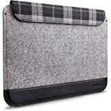 "Inateck Ultra Slim 11-11.6 Inch MacBook Air Sleeve Case with Magnetic Closure for Macbook Air 11"", A Small Pouch Included, Grey"