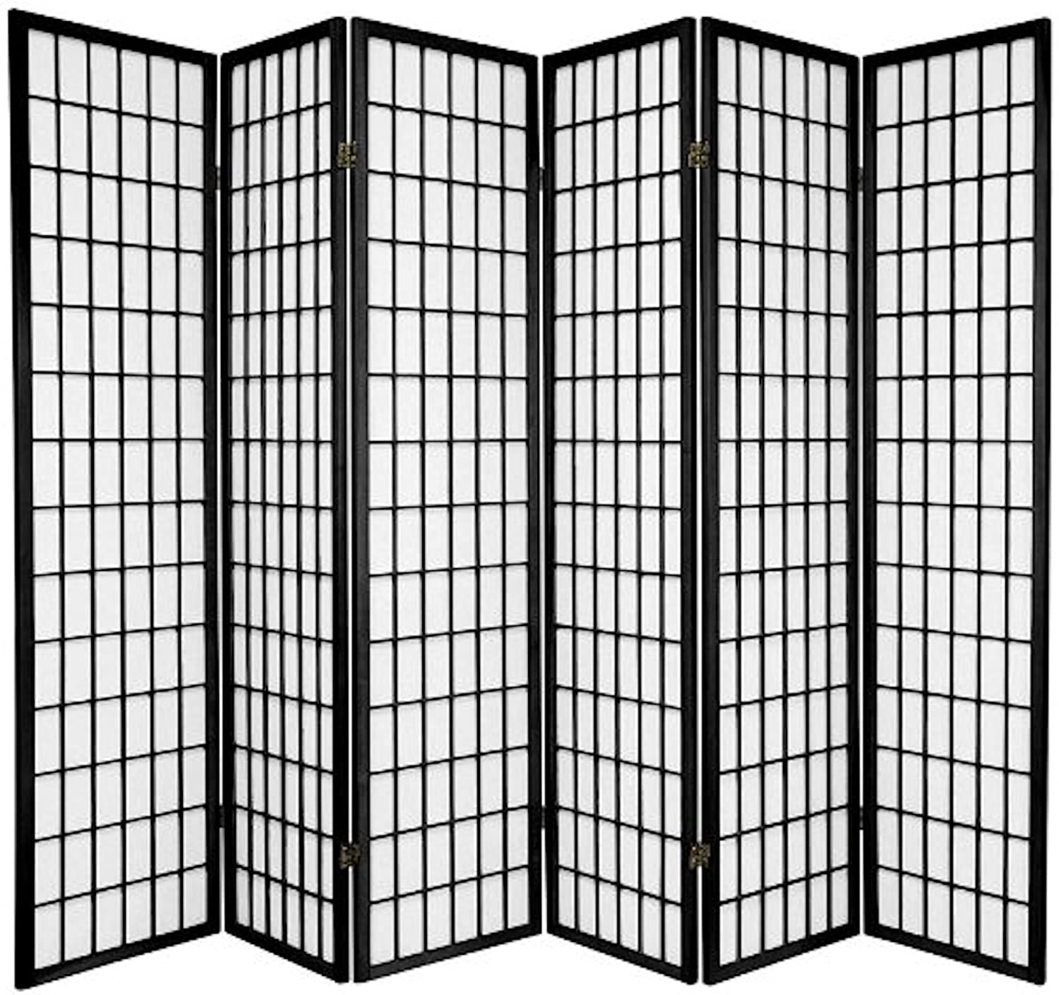 Legacy Decor 6-panel Room Screen Panel Divider Black Finish - Amazon.com: Panel Screens: Home & Kitchen