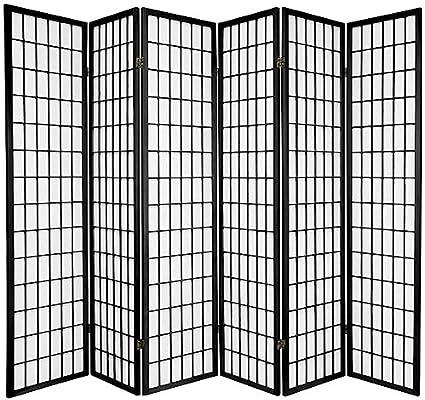 Amazoncom Legacy Decor 6 panel Room Screen Panel Divider Black
