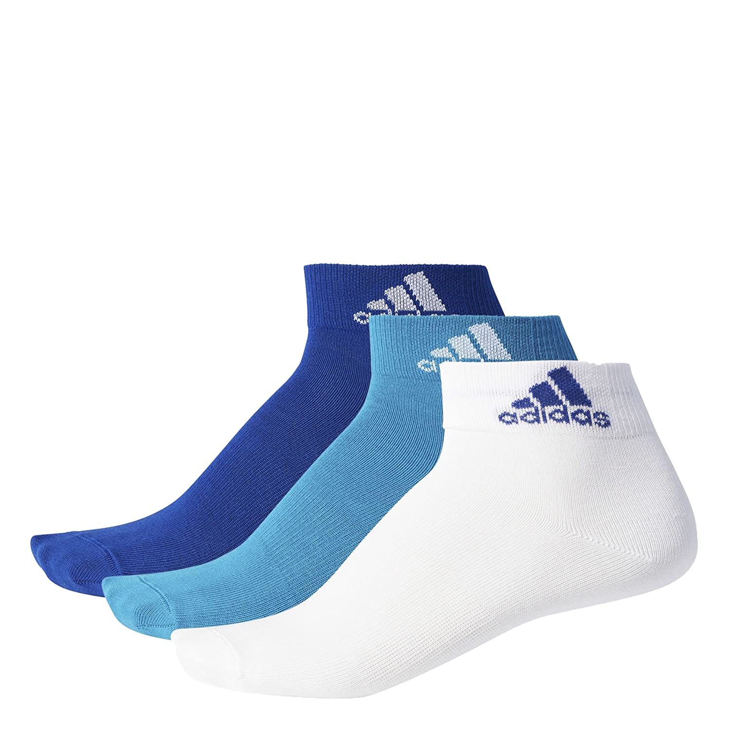 Adidas per Ankle T 3Pp, Calze Unisex Bambini, (Petmis/Bianco/Tinmis), 4346 BS1709