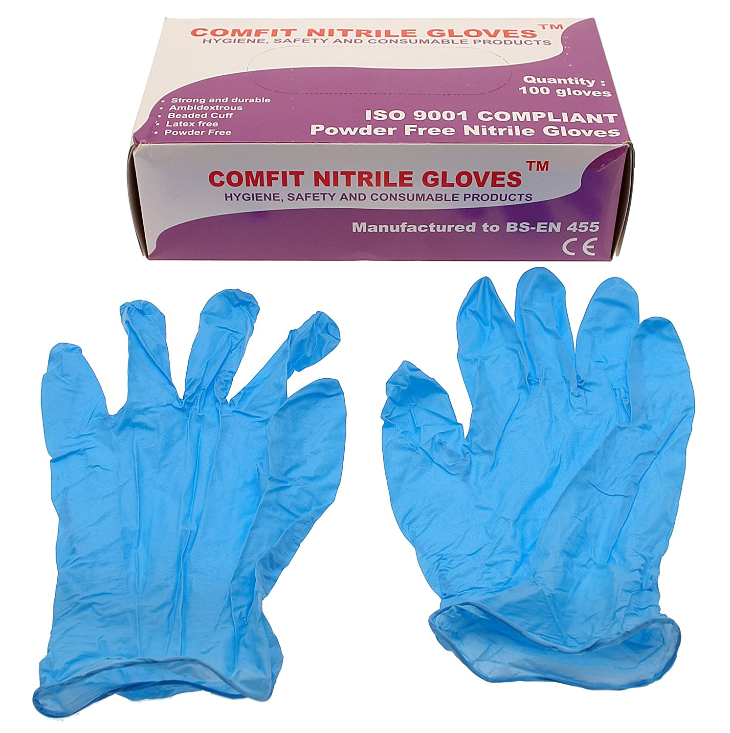 Saville NG201FXL Nitrile Powder Free Disposable Gloves - X-Large