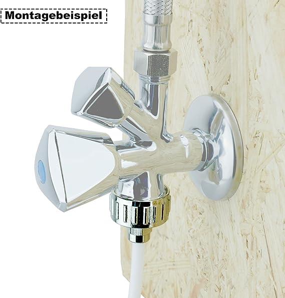 Anschluss-Set Versorgt Kühlschränke Hahnblock Verschraubung Wasserzulaufleitung