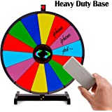 """T-SIGN 18"""" Heavy Duty Tabletop Spinning Prize Wheel, 14 Slots ColorPrize Wheel Spinnerwith Dry Erase Marker & Eraser As Customized Gifts for Carnival and Trade Show, Win The Fortune Spin Game"""