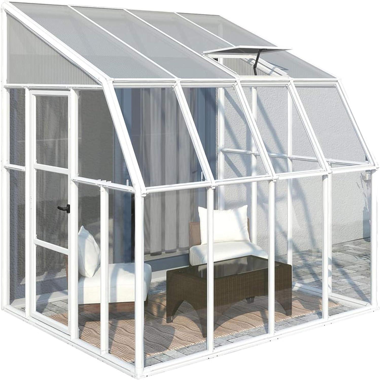 RION Kunststoff Anlehngew/ächshaus Tomatenhaus Wintergarten Sun Room 49 //// 570 x 258 x 266 cm //// inkl Dachfenster