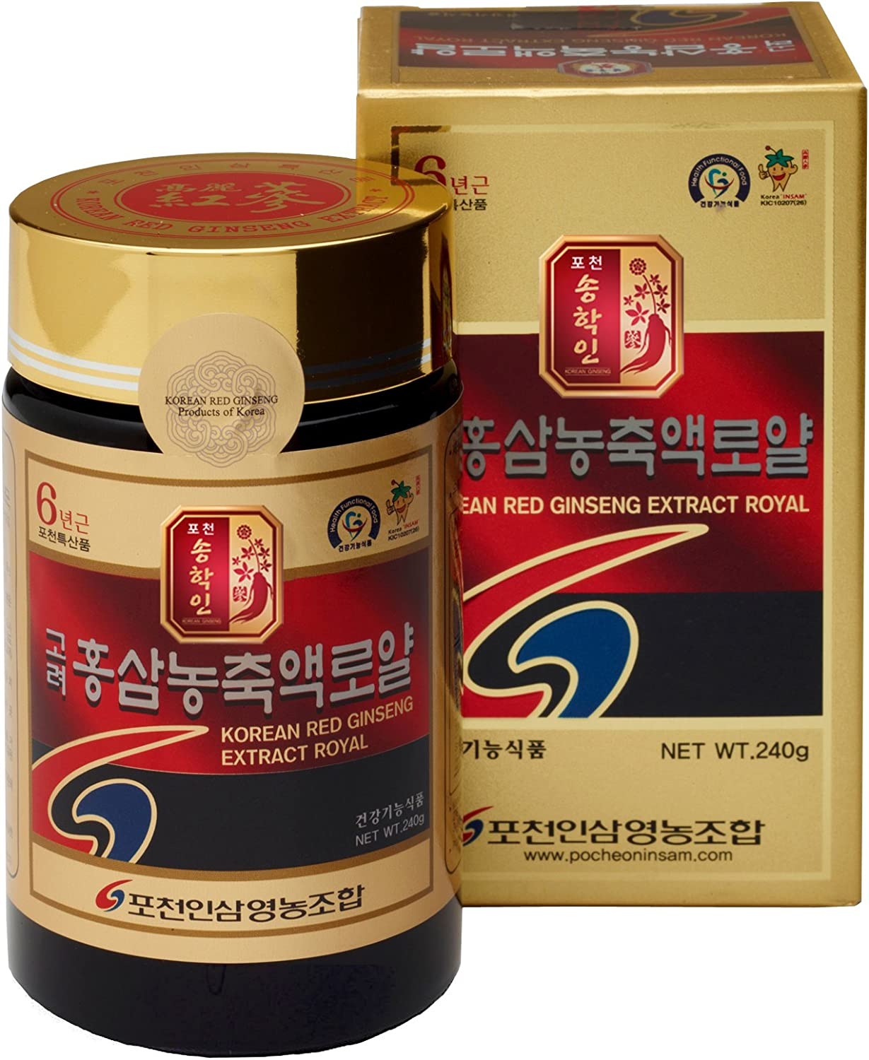 Pocheon 240g 8.5oz , 100 Pure Korean 6Years Root Panax Red Ginseng Extract Royal, 70 Solid State, Saponin