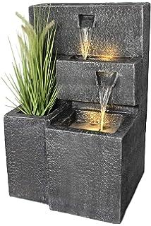 Garten Brunnen Wasserspiel mit Hahn//Eimern Springbrunnen Zierbrunnen