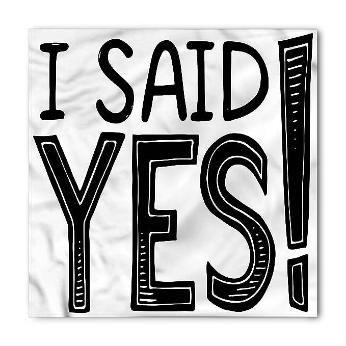 Amazon.com: Ambesonne Engagement Party Bandana, I Said Yes ...