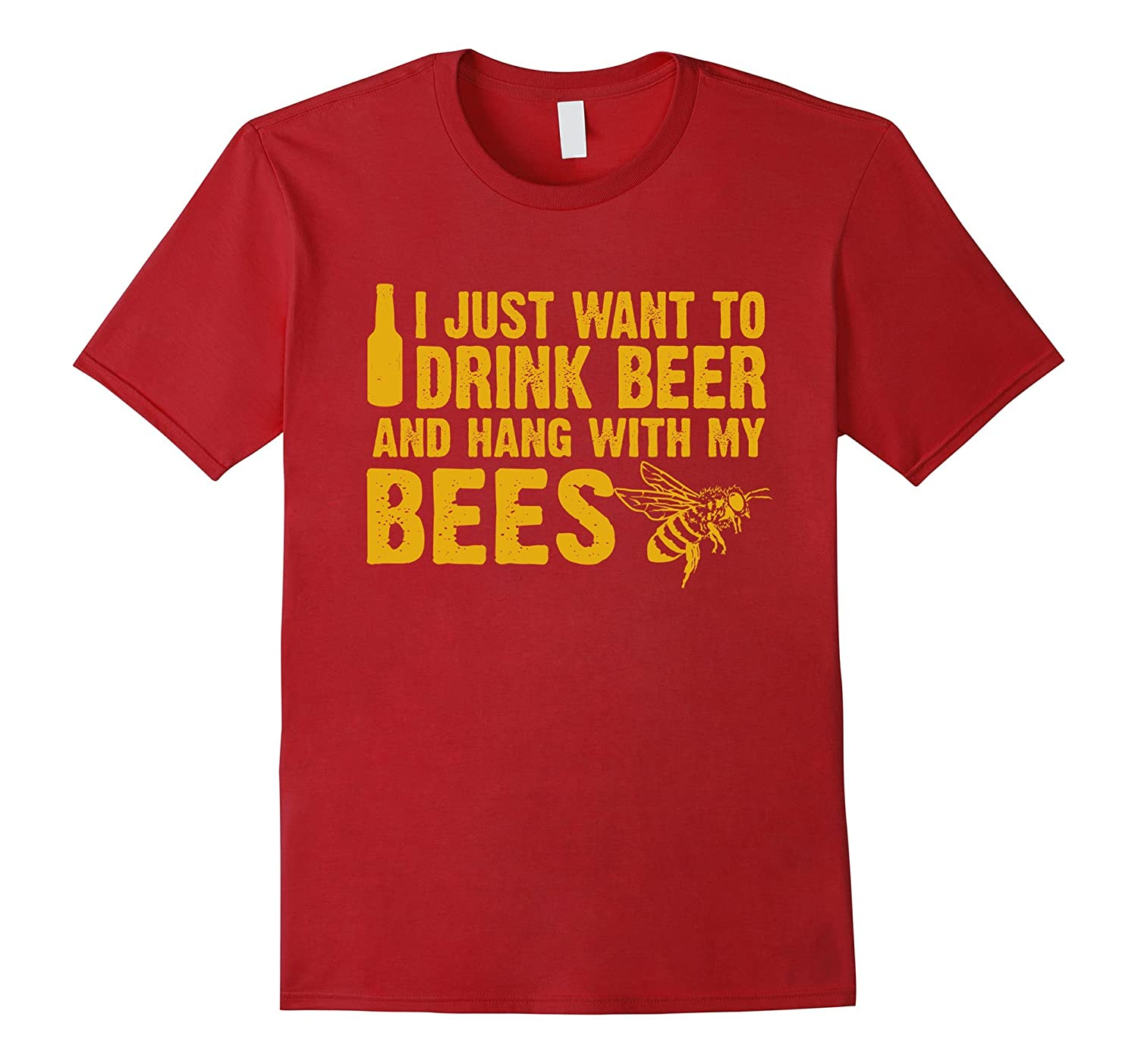 Beekeeper T-Shirt Beekeeping Shirt Drink Beer-CL