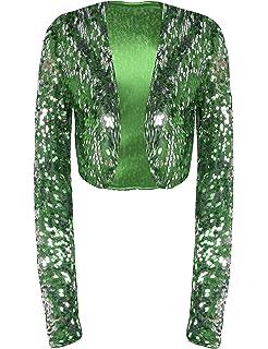 bbd52ada6 Eyecatch - Scarlett Sequin Chiffon Long Sleeve Top Bolero Shrug ...