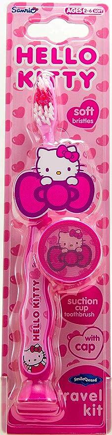 Mr White Jr - Juego de 3 cepillos de dientes (con tapa de protección, diseño de Hello Kitty): Amazon.es: Salud y cuidado personal