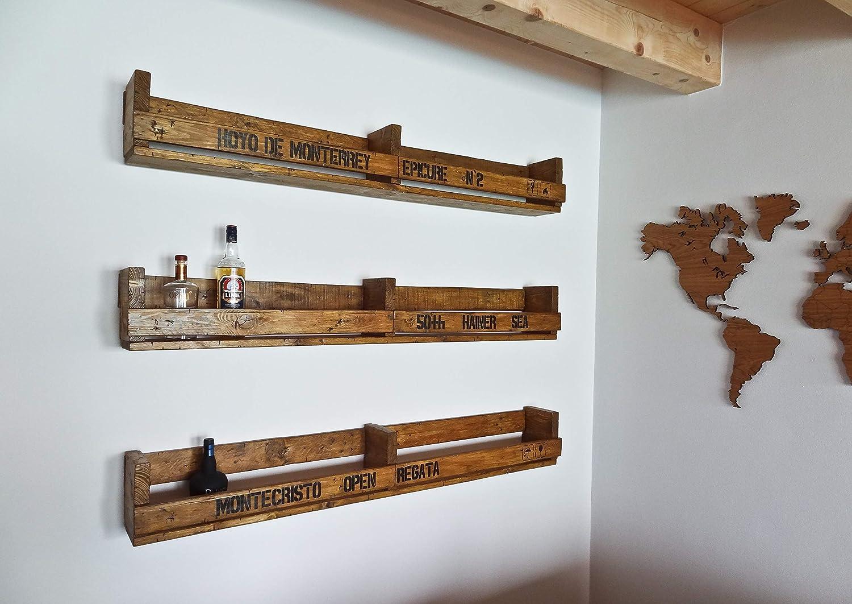 IHR WUNSCHTEXT auf einem SHaBBY ViNTaGe XXL PaLeTTeNReGaL (HxLxT: 23x16ox16cm) im Frachtkisten Style aus Echtholz nach Wunsch