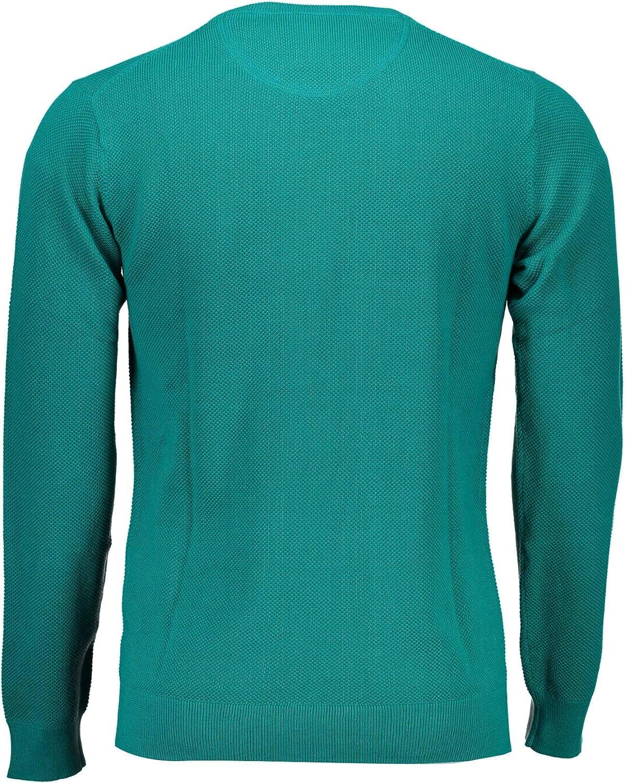 GANT Herren Cotton Pique Crewneck Sweater Pullover Grün 343