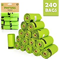 SWIPPLY | Dog Poop Bags supply | 16 Rolls With 240 Waste Bag For Dogs & Cats | Outdoors Kitty & Puppy Biodegradable Bag |Extra Thick Leak Proof Environment Friendly Poopbags |Fits Most Dispenser Sizes