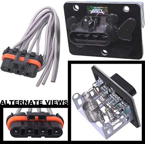 Phenomenal Amazon Com Apdty 084514 Blower Motor Resistor Kit W Wiring Harness Wiring Database Wedabyuccorg