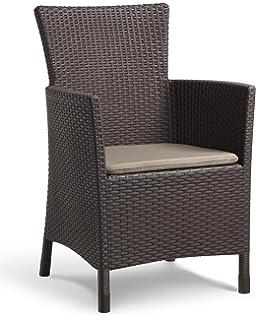 Conjunto muebles 2 plazas Jardín / Terraza, color chocolate ...