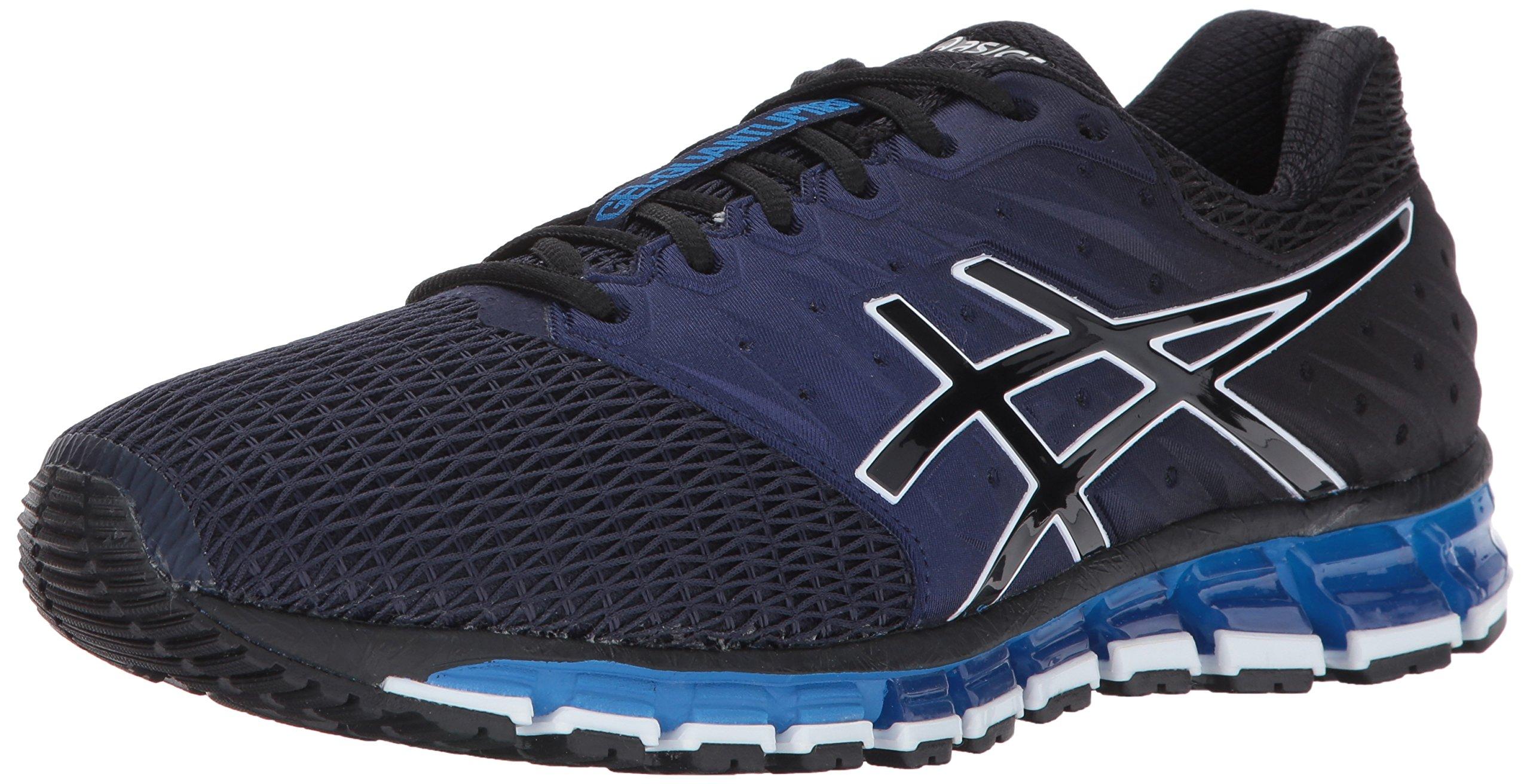 ASICS Men's Gel-Quantum 180 2 Running-Shoes, Peacoat/Black/Directoire Blue, 12 Medium US