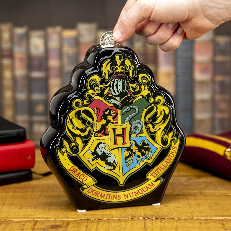 Paladone Hucha de cerámica AMZ5895HP Hogwarts Crest Hucha de Moneda, Multicolor, tamaño único