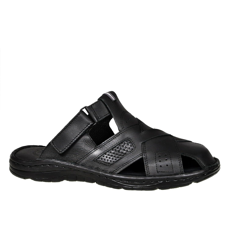 Lukpol Herren Bequeme Sandalen Schuhe mit der Orthopadischen Einlage Aus Echtem Buffelleder Hausschuhe Modell 868Lukpol Orthopadischen Buffelleder Hausschuhe 868