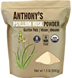 Anthony's Organic Psyllium Husk Powder (1.5lb), Gluten Free, Non-GMO, (24 oz)