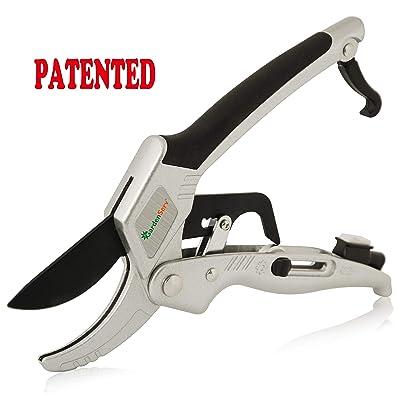 GardenServ Patented 2 in 1 PowerPro Roller Switch Ratchet Pruner 434DA08 : Garden & Outdoor