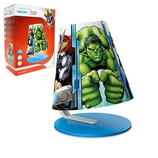 Philips Marvel Avengers Childrenu0027s Table Lamp   1 X 4 W Integrated LED