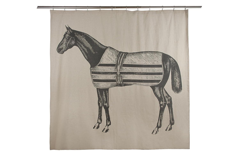 amazoncom thomas paul equestrian shower curtain home  kitchen -