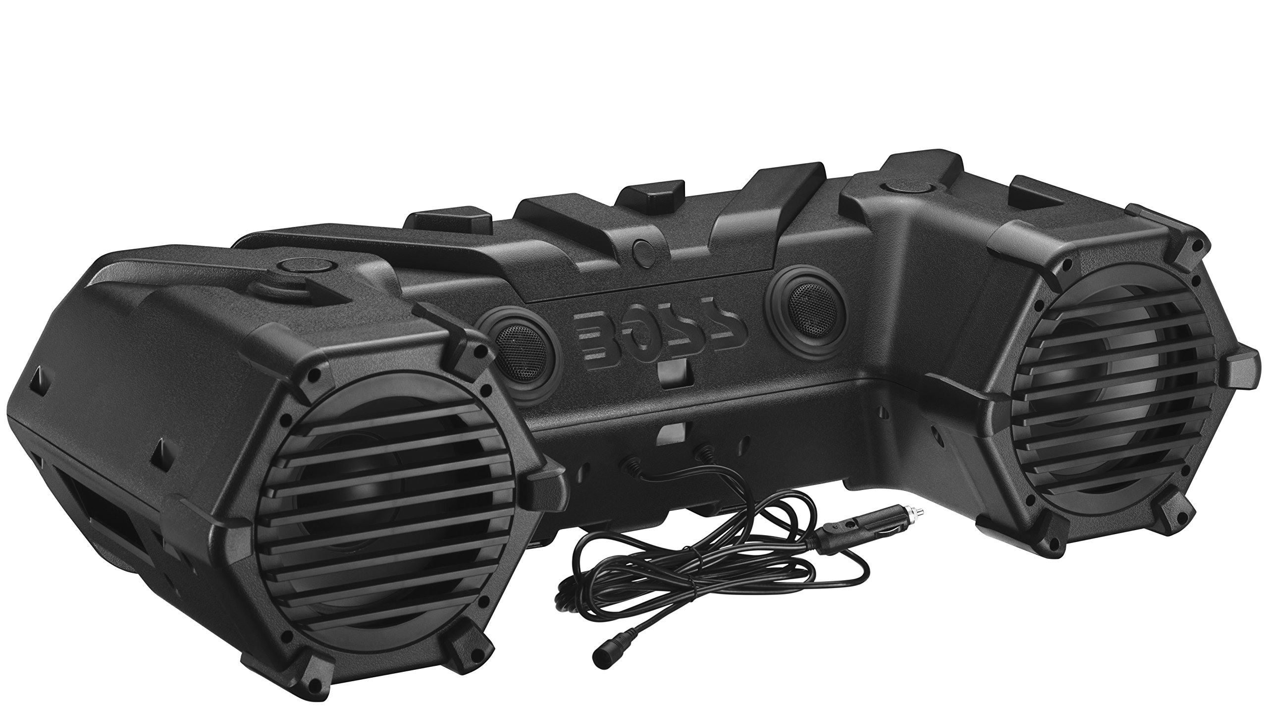 BOSS Audio ATVB90 Bluetooth, Amplified,  ATV/UTV Sound System, Weather-Proof Marine Grade, Bluetooth Remote, 12 Volt Application Friendly