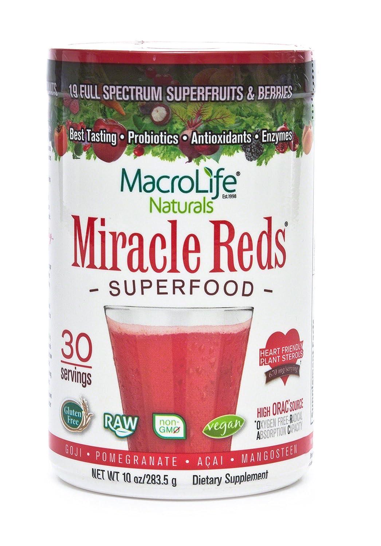 アメリカ発 栄養素たっぷりの赤汁 ミラクルレッド Miracle Reds 粉末タイプ (30回分)海外直送品 B00142I1E0