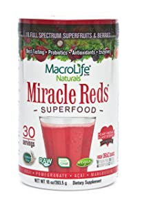 MacroLife Naturals Miracle Reds Superfood – 10oz - 30 Servings