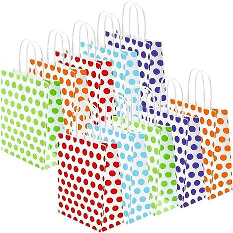 Amazon.com: Coobey 20 bolsas de papel para fiestas, bolsa de ...
