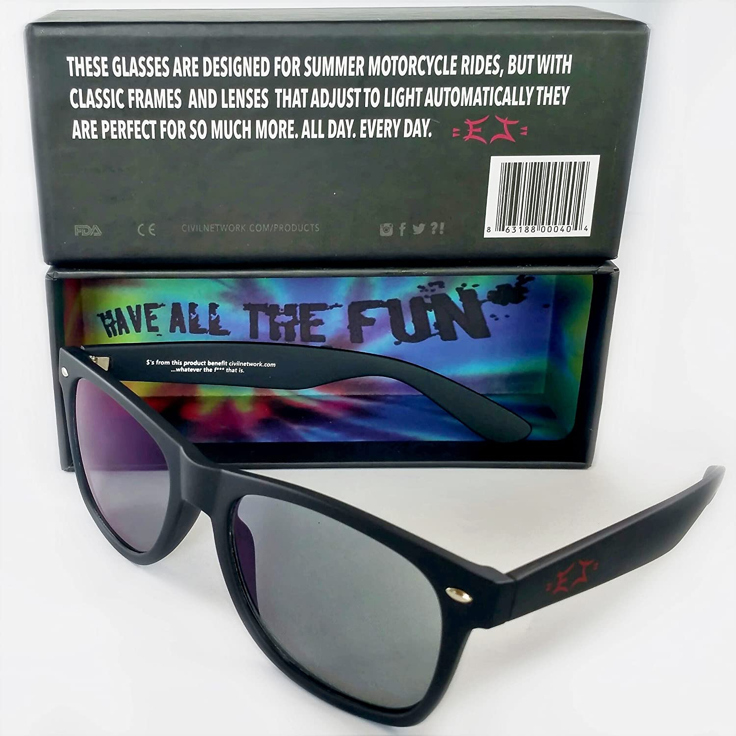 b13fa50ee2 Amazon.com  The First and Only True Classic Photochromic Motorcycle Glasses   Clothing