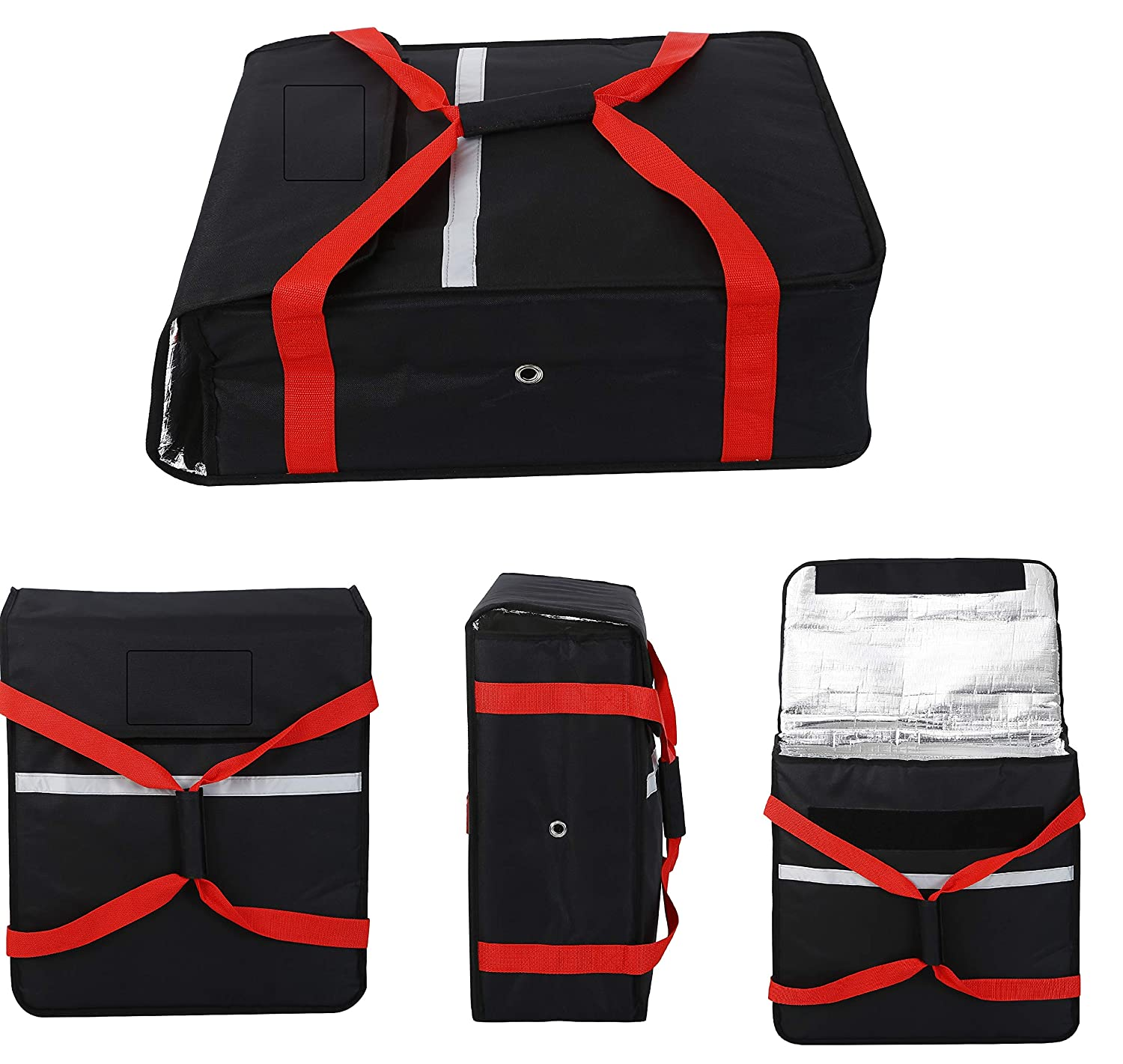 Size 20x 20x 8 Size 52x52x20cm Full Insulated all sides keep it wrm Commercial Heavy Duty Pizza Bags 5 x PIZZA DELIVERY BAG