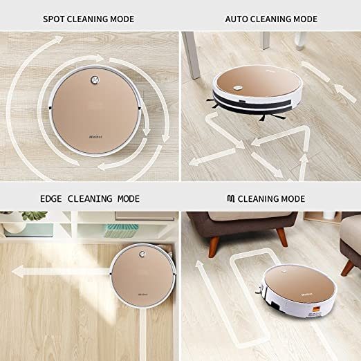 Amazon.com - Minibot X5 Robot Vacuum Cleaner For Hard Floors Thin Carpets Tile Rugs And Pet Hairs With High Suntion Wet Mop Water Tank Gold -
