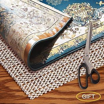 Amazon Com Amzok Rug Grippers Rug Pad 2x4 Non Slip Rug Pad Under Rug Premium Rug Pad For Hardwood Floor Non Slip Carpet Mat Rugs Anti Slip Pad Skid For Rug 10