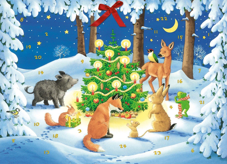 Waldweihnacht der Tiere