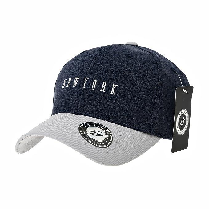 WITHMOONS Gorras de béisbol Gorra de Trucker Sombrero de Baseball Cap New York Lettering Cotton Plain