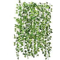 Niceclub 12-pack konstgjorda grönska girlang falsk murgröna vinranka hängande växter bladkrans för bröllopsfest…
