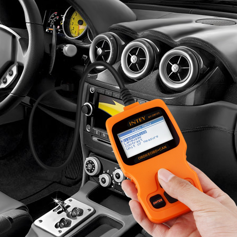 INTEY OBD2/lettore veicolo auto lettore di codice di errore diagnostico auto Scan Tool leggere e cancella codici di errore per 2000/o pi/ù recente US europei e asiatici OBDII