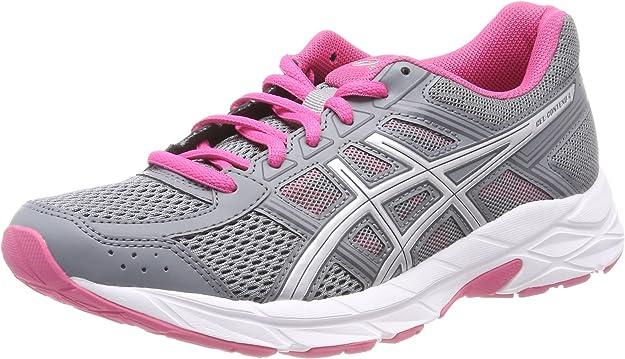 Asics Gel-Contend 4, Zapatillas de Running para Mujer, Gris (Stone Grey/Silver/Hot Pink 1193), 42.5 EU: Amazon.es: Zapatos y complementos