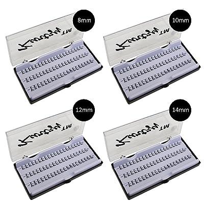 Pestañas Postizas 240 Piezas Extensiones Natural 8mm - 14mm por Kurtzy - Pack 4 Bandejas - Kit Pestañas Cortas y Largas Falsas - Dramático y Natural - Plásticos Individuales - Pegamento No Incluido