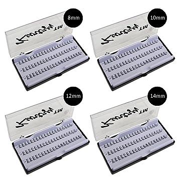 Pestañas Postizas 240 Piezas Extensiones Natural 8mm - 14mm por Kurtzy - Pack 4 Bandejas -